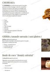 Menu The gazelle - Le chebbakia, ghriba  amande sarrazin ...