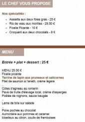 Menu L'Etoile du Jour - Les spécialités et le menu à 25€