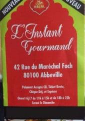 Menu L'instant gourmand - Carte et menu L'instant gourmand Abbeville