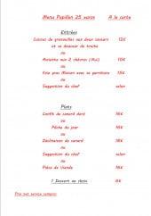 Menu Le papillon - Le menu papillon