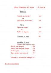Menu Le papillon - Le menu végétarien et les formules