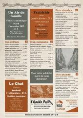 Menu Brasserie Marso - Les entrées, les poissons,......