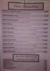 Menu Pizzeria du Mail - La salade et entrées