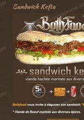 Menu BollyFood - Le sandwich kefta