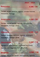 Menu Pizzeria De La Madeleine - Base tomate suite et crème