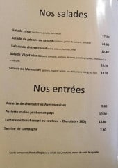 Menu Auberge occitane - salades, entrées