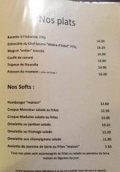 Menu Auberge occitane - plats, softs