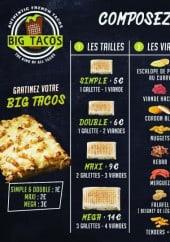 Menu Big Tacos - Les tacos