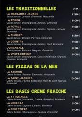 Menu Pizza Saint Sardos - Les pizzas