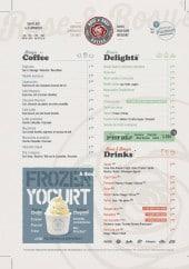 Menu Rose and Rosy - des cafés,douceurs et boissons