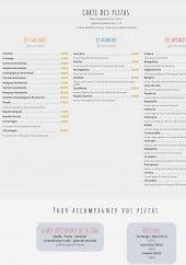 Menu L'Olive Pizza Karine - Pizzas, glaces et boissons