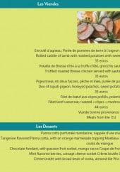 Menu Hostellerie le baou - Les viandes et les desserts