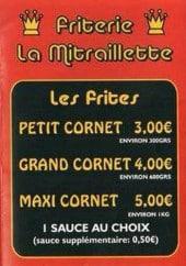 Menu La mitraillette - Frites et sauces