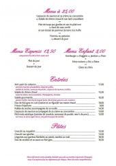 Menu Le Cabanon - Les menus, entrées, pâtes