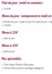Menu Le Moulin à Chapelle - Plats du jour, menus et spécialités