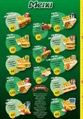 Menu Le Palmier - Les menus