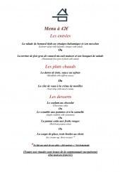 Menu La Bécassière - Le menu à 42€