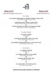 Menu La Bécassière - Le menu à 22€ et menu à 28€