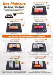 Menu M sushi - Plateaux