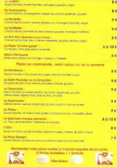 Menu La cave à pizza - Les pizzas sur commande: la sombrero, la tapenade,....