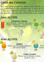 Menu Asia Wok - Carte de cocktails