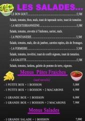 Menu Aux bons goûts - Les salades et menus