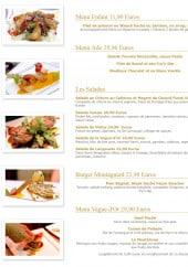 Menu La Vague d'Or - Les menus, salades et burgers