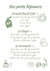 Menu Beach Café - Les petits déjeuner