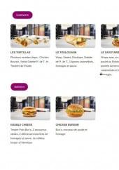 Menu Chicken City - Les sandwiches et burgers