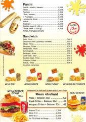 Menu MC pizza - Paninis, sandwiches, menus et boissons