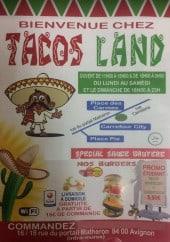 Menu Tacos Land - Carte et menu Tacos Land  Avignon