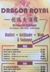 Menu Dragon Royal - Carte et menu Dragon Royal Orange