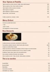 Menu C' comme à la Maison - Les tajines, desserts,...