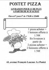 pontet pizza le pontet carte et menu en ligne. Black Bedroom Furniture Sets. Home Design Ideas