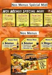 Menu Rapido pizza - Les menus
