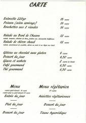 Menu Au bord de l'Auzon - Plats et menus