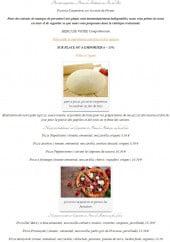 Menu La Cendrée - Pizzas