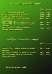 Menu Pizza Napoli - Les pizzas fromages, les alpines
