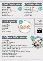 Menu Côté Gare Sushi - Les sushis, makis,...