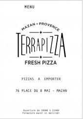 Menu Terra pizza - Carte et menu Terra pizza Mazan
