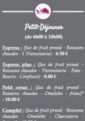 Menu Les P'tits Lilou - Petit dejeuner