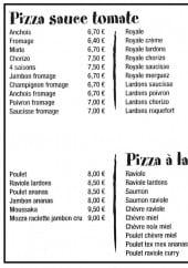 Menu Pizza Jean-Pierre - Pizzas
