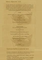 Menu Le Pescador - Le menu midi  et formule à volonté