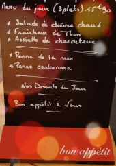Menu Le Comptoir - Exemple de menu