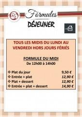 Menu Le Rondeau Gourmand - Formules dejeuner