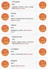 Menu Pizza du Champ de Foire - Les pizzas bases tomates