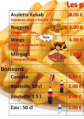 Menu Pacha Kebab - Barquettes des frites, boissons, suplements,...
