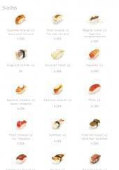Menu Tendance Sushi - Les sushis