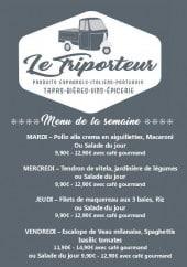 Menu Le Triporteur - Un exemple de menu de la semaine