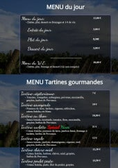 Menu Le Julienois - menu du jour, tartines